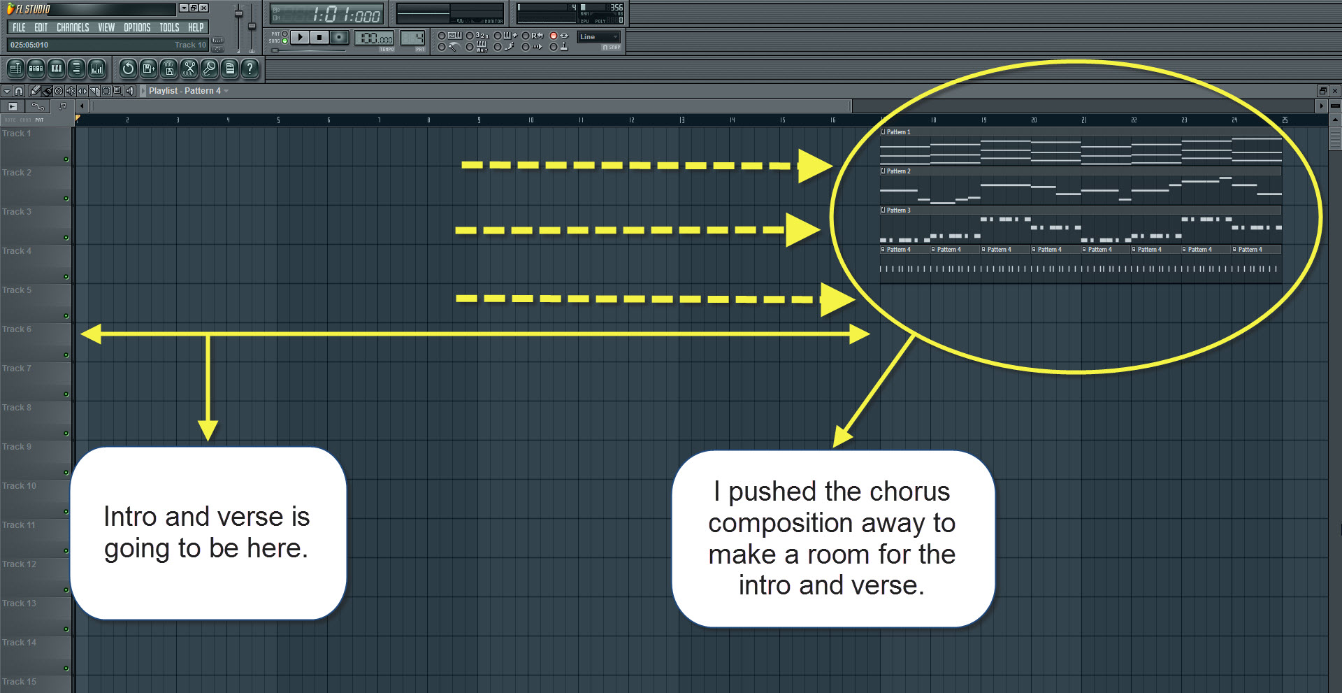 How to make a song in fl studio start with the chords htmem make room for the intro and verse hexwebz Images