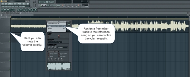 Assign The Song To A Mixer Track For Volume Control