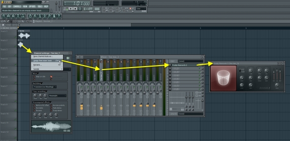 Assign The Sample Selection To Free Mixer Track And Add Reverb