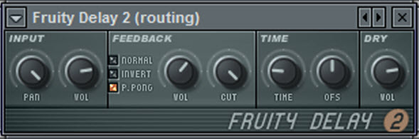 Fruity Delay 2 Settings For The Routing Mixer Track