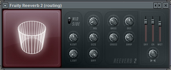 Fruity Reeverb 2 Settings For The Routing Mixer Track