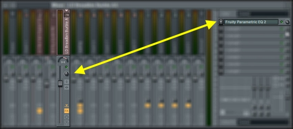 Mixer Track Settings Of The Third Unit Of TAL-NoiseMaker