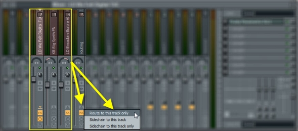 Route Mixer Tracks To An Empty Mixer Track