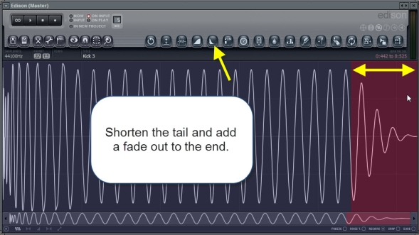 Shorten The Tail And Add Fade Out To The End