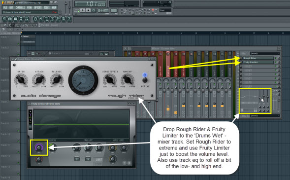 Add Compressor To The Drums Wet Mixer Track
