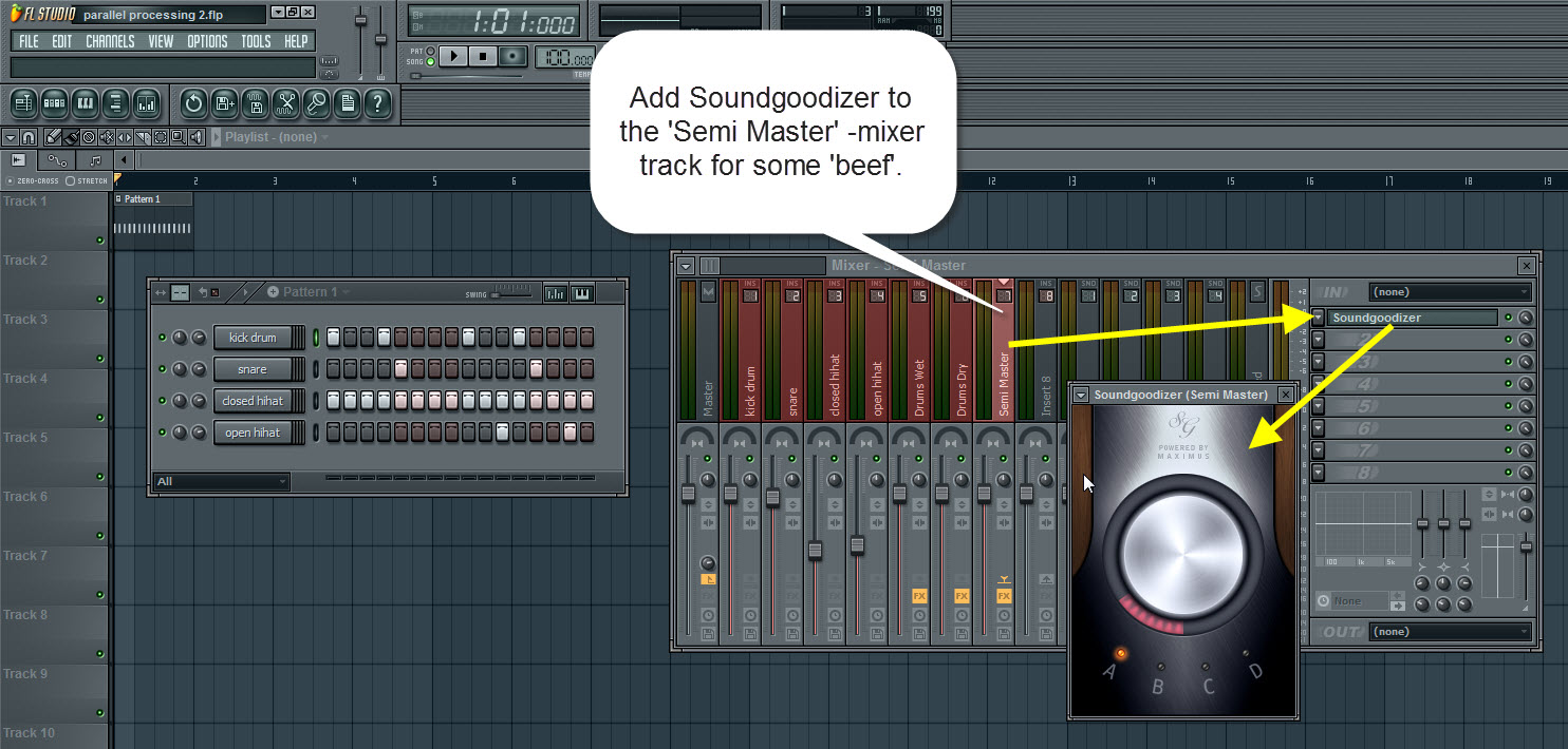 Add Soundgoodizer To The Semi Master Mixer Track
