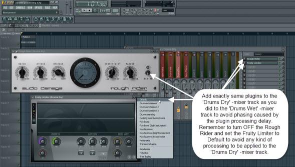 Avoid Phasing By Adding Same Plugins To Both Mixer Tracks