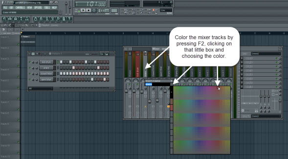 Color The Mixer Tracks