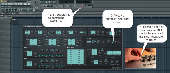 Multilink To Controllers Switch Usage For Linking To External MIDI Controller