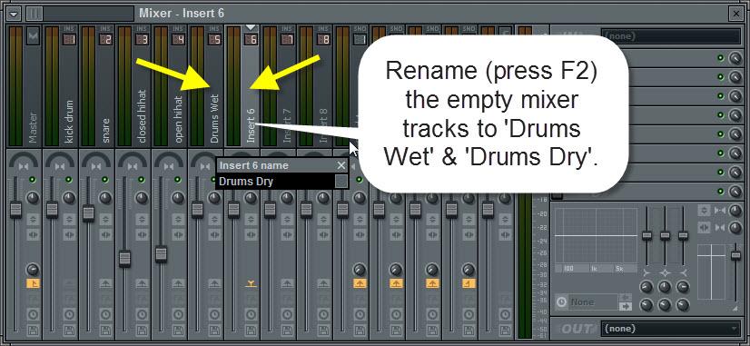Rename Empty Mixer Tracks