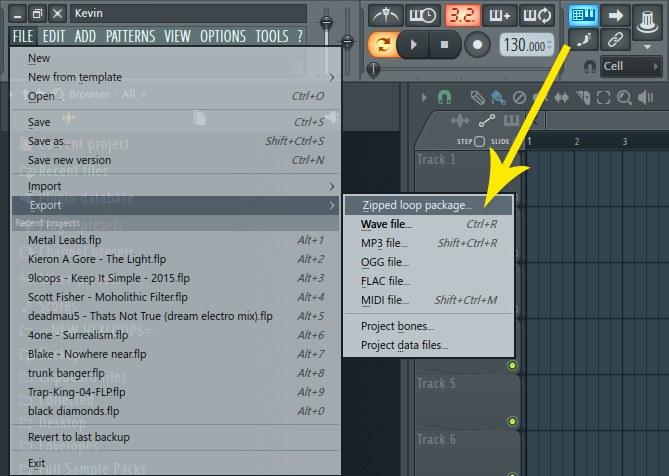 FL Studio Export Zipped Loop Package