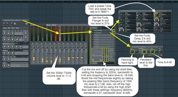 303 Style TS404 Mixer Settings