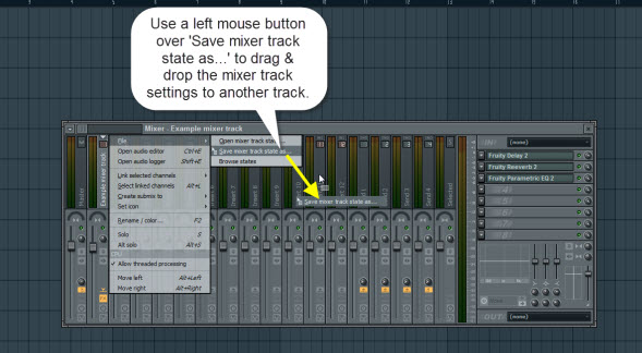 Copy And Paste Mixer Track Settings On The Fly