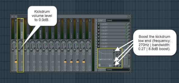 Kickdrum Mixer Settings