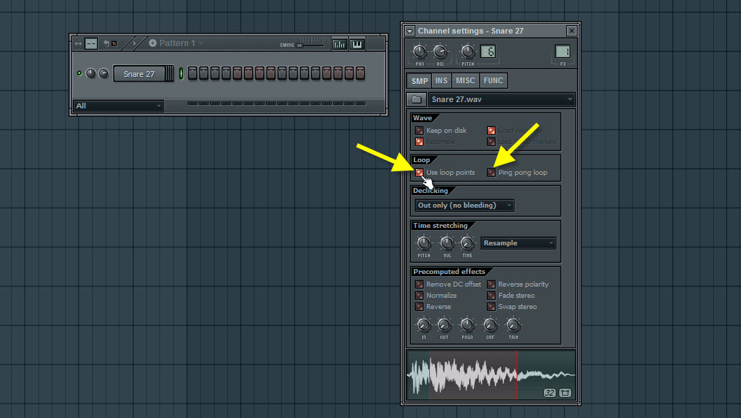 Enable Loop Points In The Sampler Channel