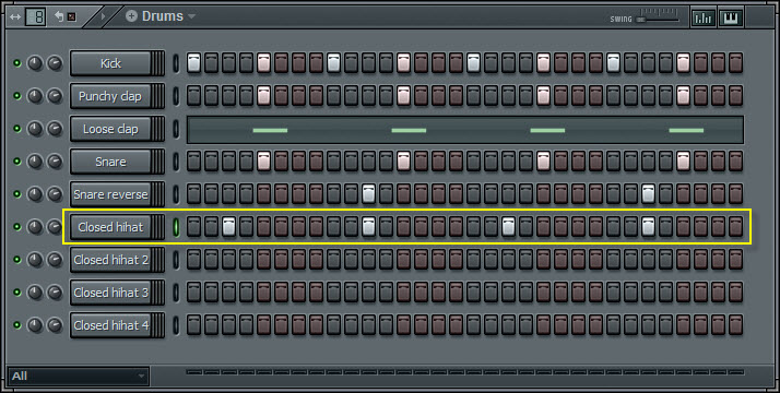 First Closed Hihat Sequence