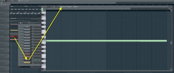 how to open piano roll in garageband
