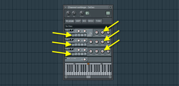 3xOsc Oscillator Settings