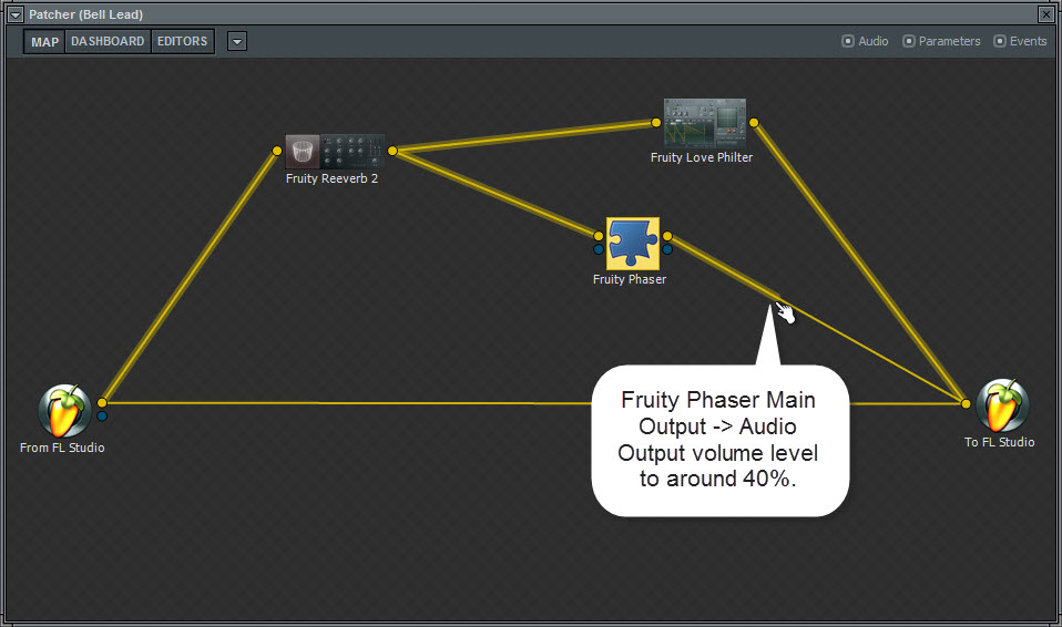 Fuity Phaser Output Level