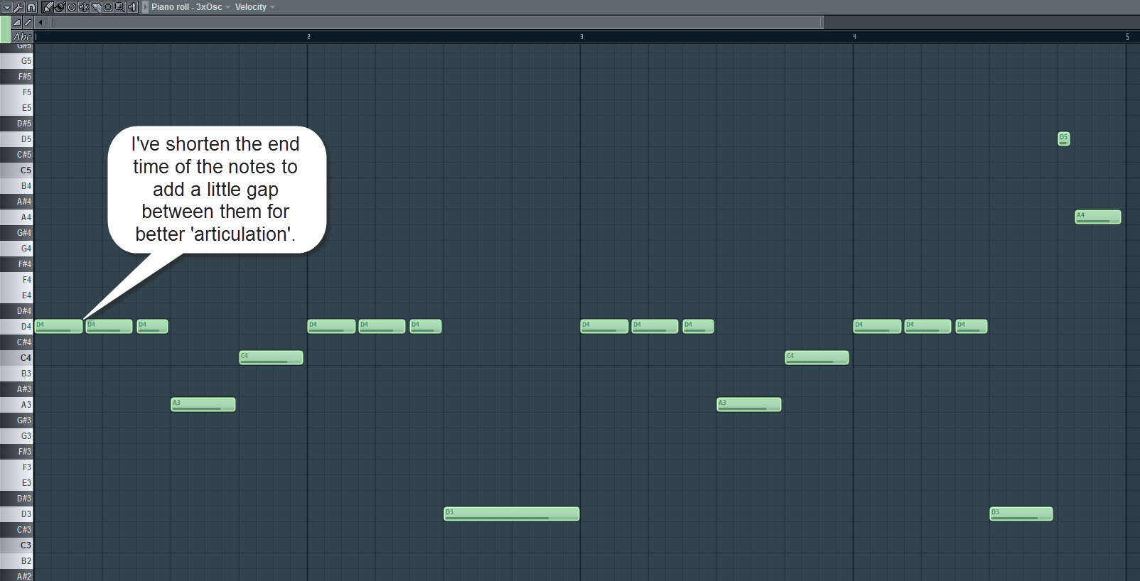 Portamento Bass Sequence