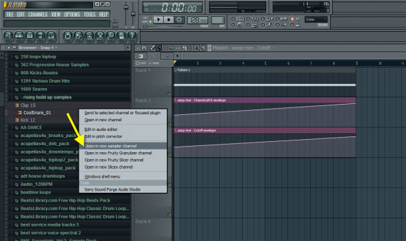 Add Snare Sample To The Project