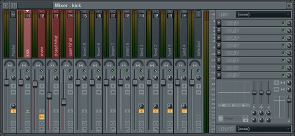 Drums Volume And Panning Settings