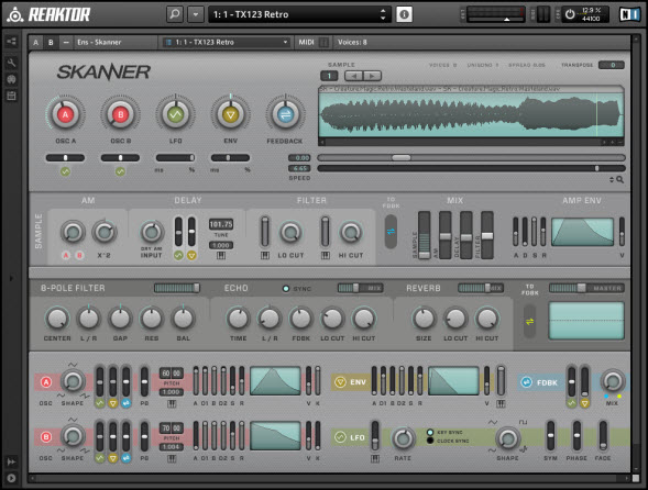 SKANNER Free REAKTOR Synth By Native Instruments