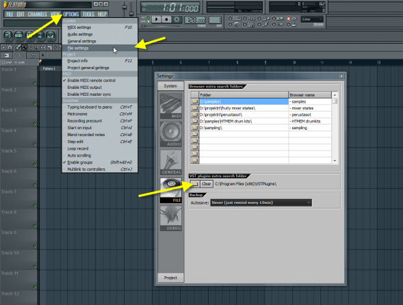 Set The Default Folder For VST Plugins