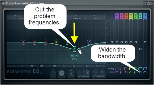 Cut The Problem Frequencies