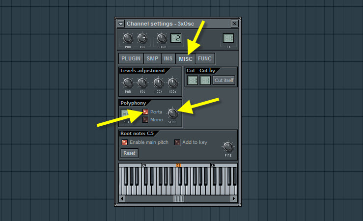 Enable The Portamento For Square Wave Lead
