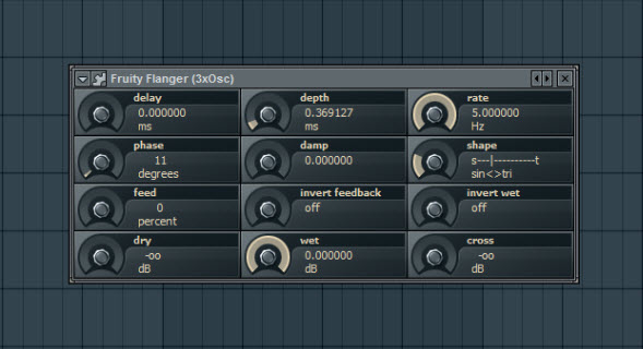 Fruity Flanger Settings For Saw Wave Pad