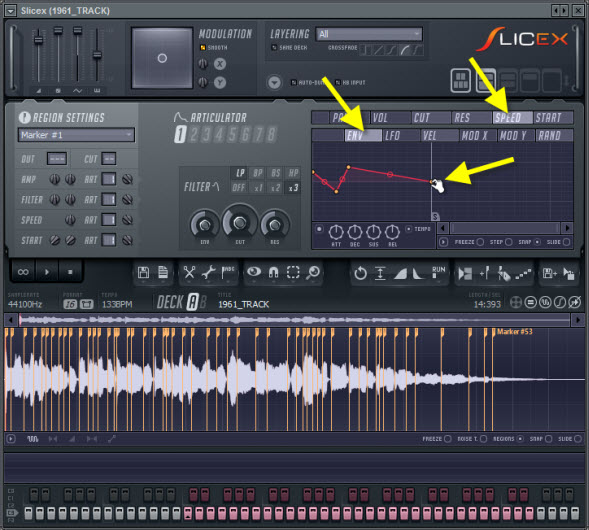 Scratching Effects With Slicex