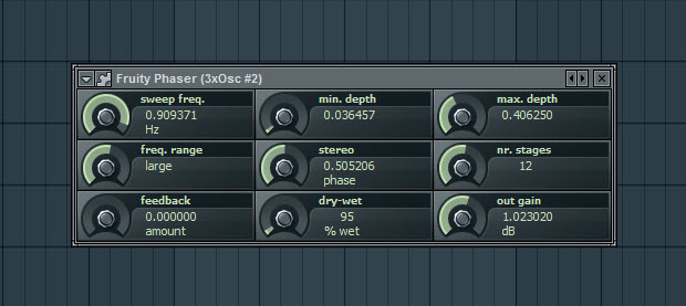 Another Fruity Phaser For The First Pad Sound