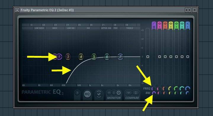 Fruity Paramateric EQ 2 Settings For The Second Pad Sound
