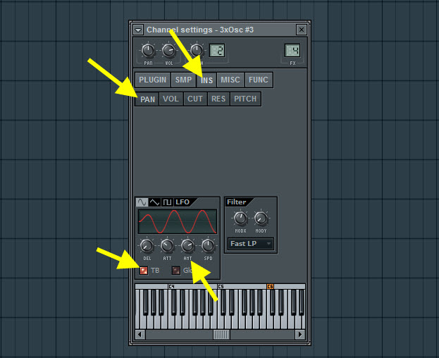 Pan Modulation Settings For The Second Pan Sound