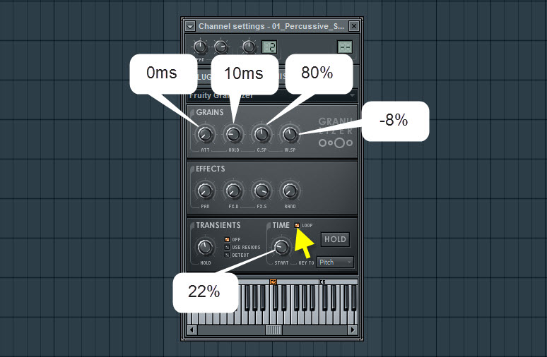 Fruity Granulizer Settings For FX Soundscape