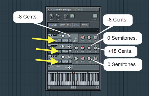3xOsc Settings For Synth Sound