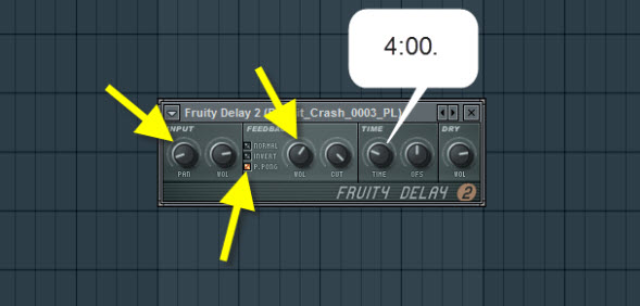Crash Cymbal Delay Settings