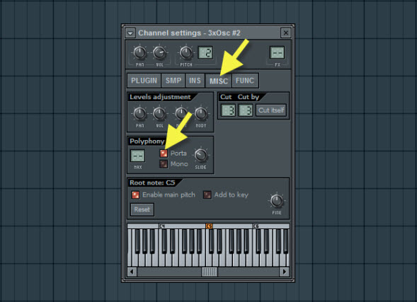 Enable Portamento For The Synth