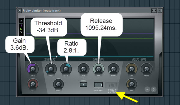 Fruity Limiter Compressor Settings For Route Track