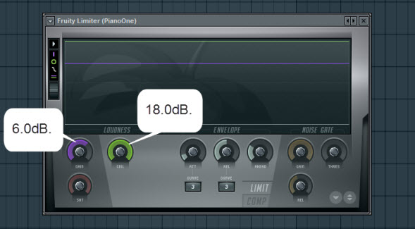 Fruity Limiter Settings For Piano One