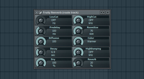 Fruity Reeverb Settings For The Route Track
