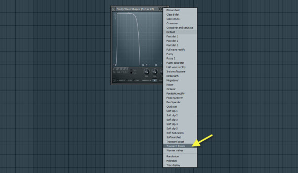 Fruity WaveShaper Settings For Synth