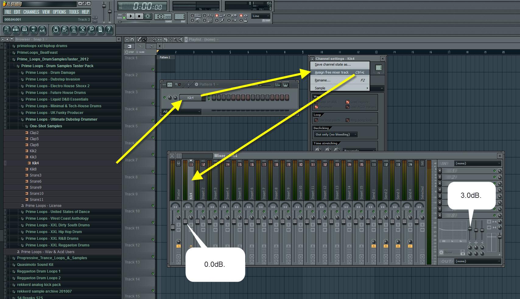 Kik4 Mixer Settings