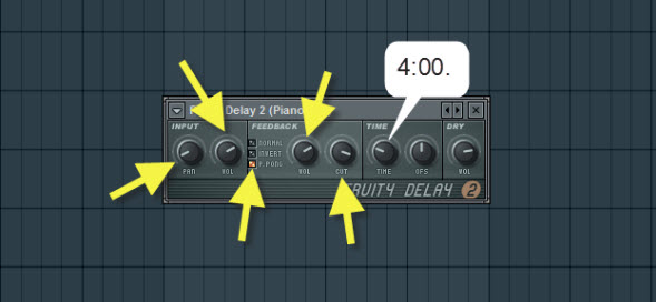 Piano One Delay Settings