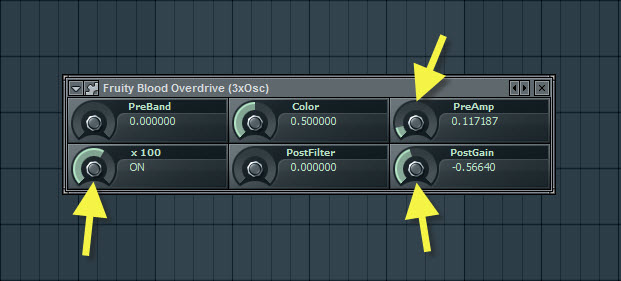 Fruity Blood Overdrive Settings