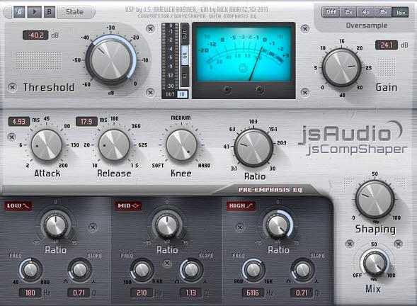 jsCompShaper | Very Good Free Compressor Plugin