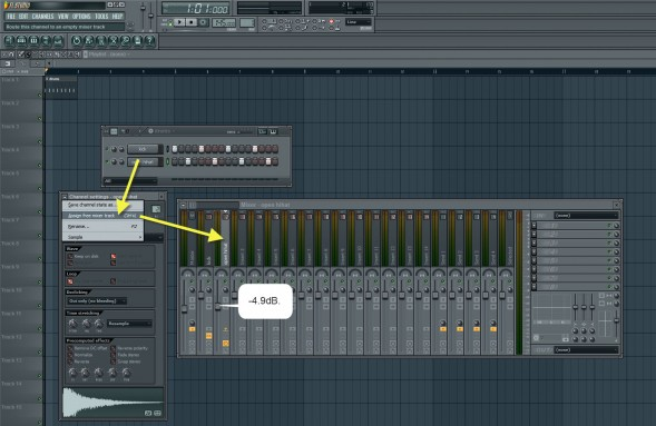 Assigning Open Hihat To Mixer Track