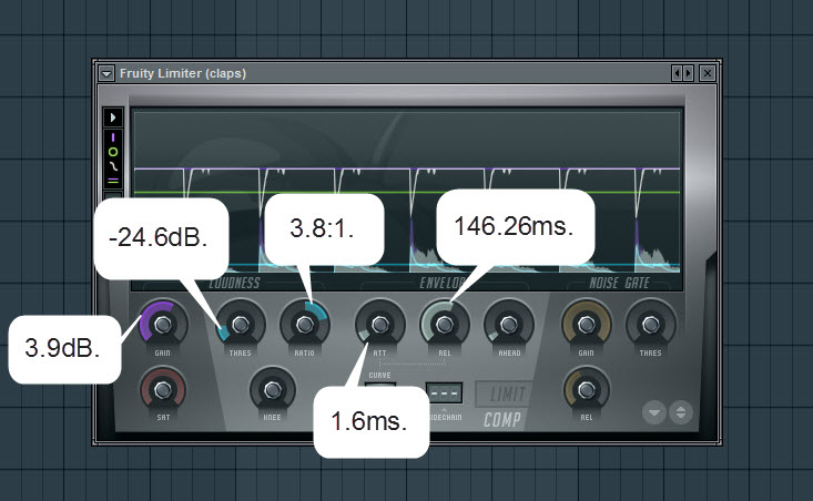 Compressor Settings For Claps