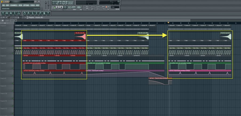Copying And Pasting Bass And Air Horn